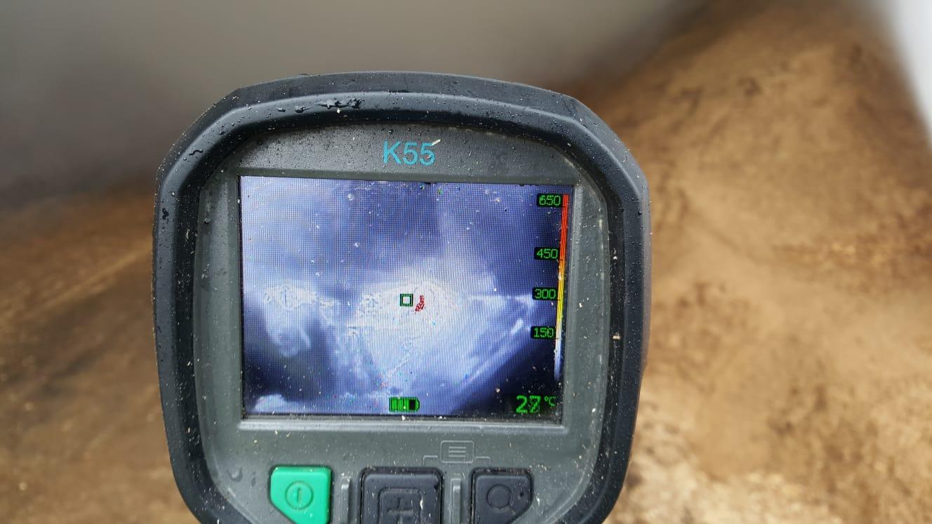 Hotspot lokaliseren met een warmtebeeldcamera